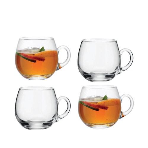 英國LSA 晶透玻璃派對茶杯4入組
