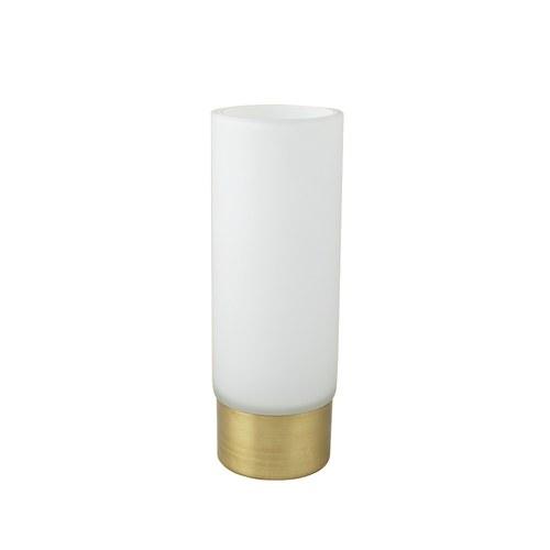 丹麥LeneBjerre 霧白鑲金邊玻璃花器 (高20公分)
