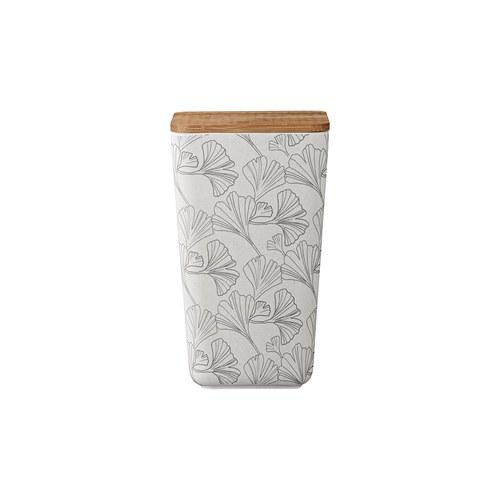 丹麥LeneBjerre 銀杏葉圖紋竹蓋儲物罐