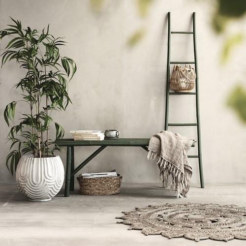 丹麥LeneBjerre 東方圖騰編織圓型地毯
