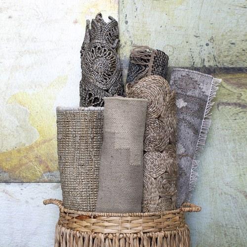 丹麥LeneBjerre 東方圖騰編織橢圓型地毯