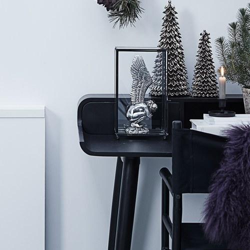 丹麥LeneBjerre 極簡L型木製書桌 (黑)