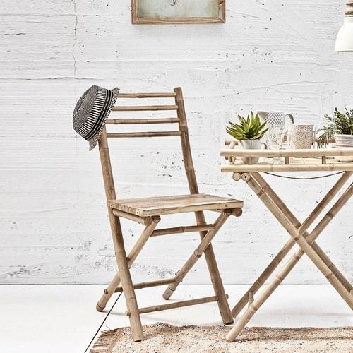 丹麥LeneBjerre 田園風情竹編靠背椅