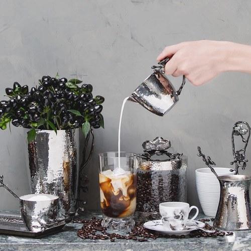 美國MichaelAram工藝飾品 黑蘭花系列長型托盤 (長30公分)