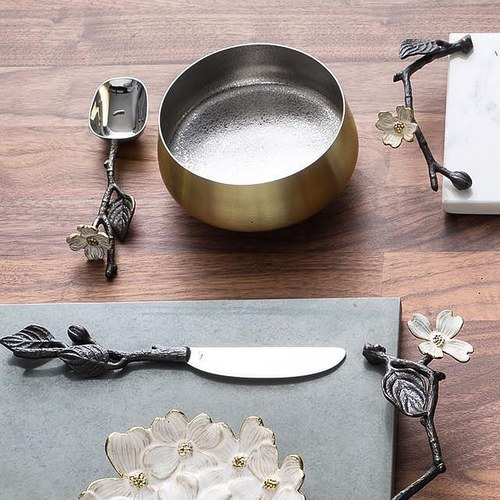 美國MichaelAram工藝飾品 山茱萸系列分菜叉匙組