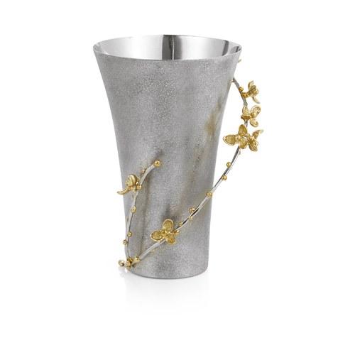 美國MichaelAram工藝飾品 白英苦甜藤系列花器 (高19.1公分)