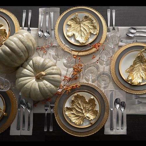 美國MichaelAram工藝飾品 玉蘭葉系列造型托盤 (長20.3公分)