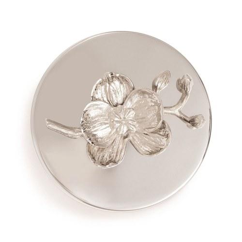 美國Michael Aram工藝飾品 銀砌白蘭花系列經典蠟燭