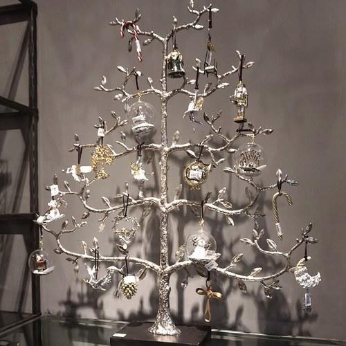美國Michael Aram工藝飾品 銀白雪人球型聖誕裝飾
