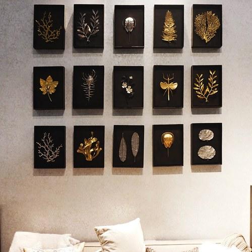 美國MichaelAram藝術掛飾 秋風栗樹葉片立體壁掛