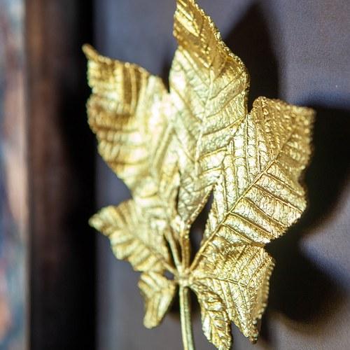 美國Michael Aram藝術掛飾 秋風栗樹葉片立體壁掛