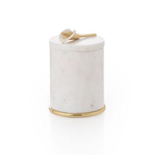 美國MichaelAram工藝飾品 幸福海芋系列大理石收納罐