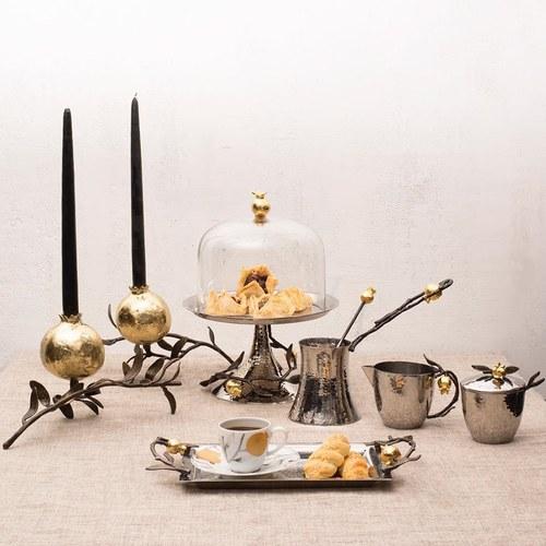 美國MichaelAram工藝飾品 鮮嫩石榴系列造型燭台