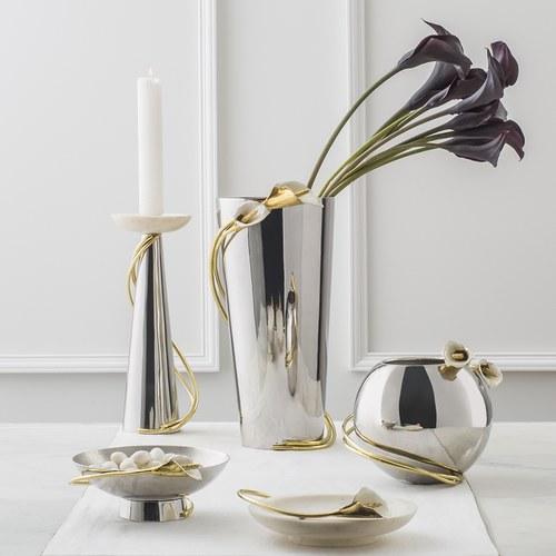 美國MichaelAram工藝飾品 幸福海芋系列分享餐碗 (直徑27公分)