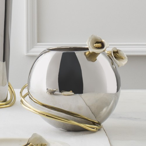 美國MichaelAram工藝飾品 幸福海芋系列圓型花器(直徑30公分)