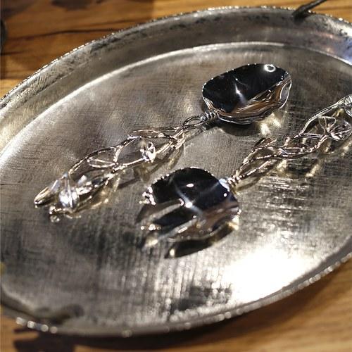 美國MichaelAram工藝飾品 月桂葉系列分菜叉匙組