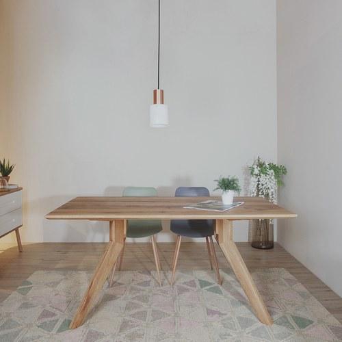 義大利OliverB 三角洲平原實木餐廳餐桌 (長180公分)