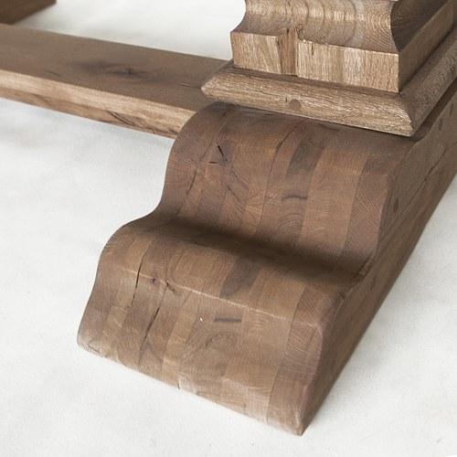 荷蘭PURE 雕刻造型桌腳餐桌 (煙燻棕、長180公分)