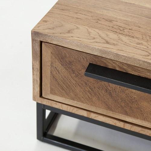 荷蘭PURE 工業風V字拼貼收納咖啡桌 (橡木)