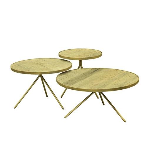 荷蘭PURE 極簡工業風圓形邊桌 (黃銅、直徑60公分)