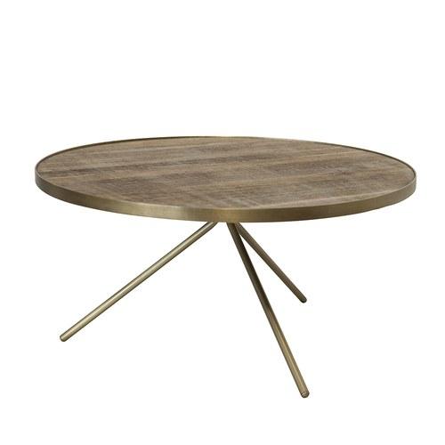 荷蘭PURE 極簡工業風圓形邊桌 (黃銅、直徑75公分)