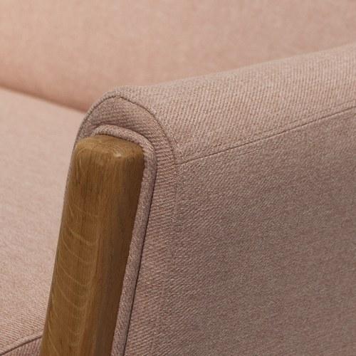 夏馬選物ShiamalSelect 歐風木質緣飾三人沙發 (粉)