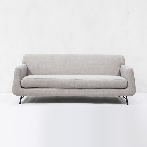 夏馬選物ShiamalSelect 柔軟雲朵錐形三人沙發 (灰白)