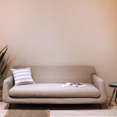 夏馬選物ShiamalSelect 柔軟雲朵錐形三人沙發 (麻灰)
