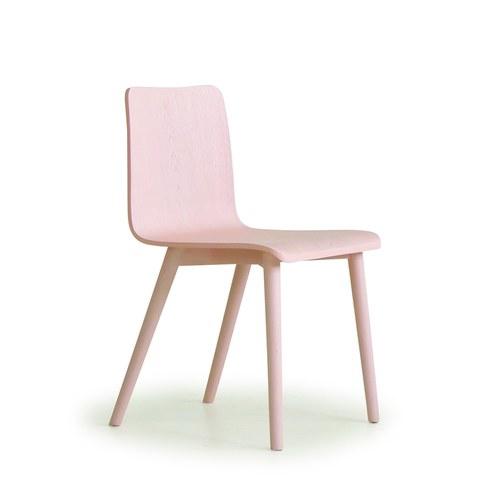 丹麥Sketch 簡約木作L型單椅 (粉)