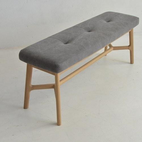 丹麥Sketch 北歐風清新軟墊長凳 (灰)