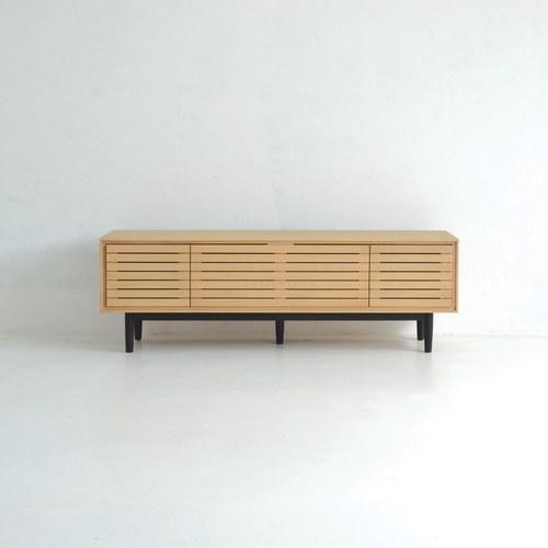 丹麥Sketch 密格簍空造型電視櫃 (橡木)