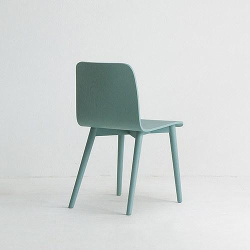丹麥Sketch 簡約木作L型單椅 (藍)
