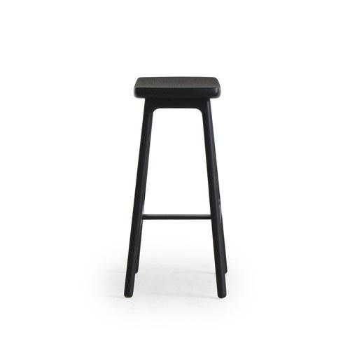 丹麥Sketch 微波浪簡約造型吧台椅 (黑)