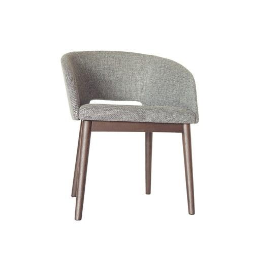 丹麥Sketch 圓弧靠背布面單椅 (鐵灰)