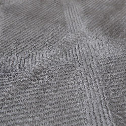 土耳其Stepevi 錯落斜格地毯 (鈦灰、長240公分)