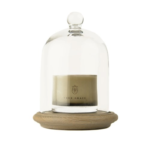 英國TrueGrace居家香氛 鐘形玻璃罩蠟燭底座