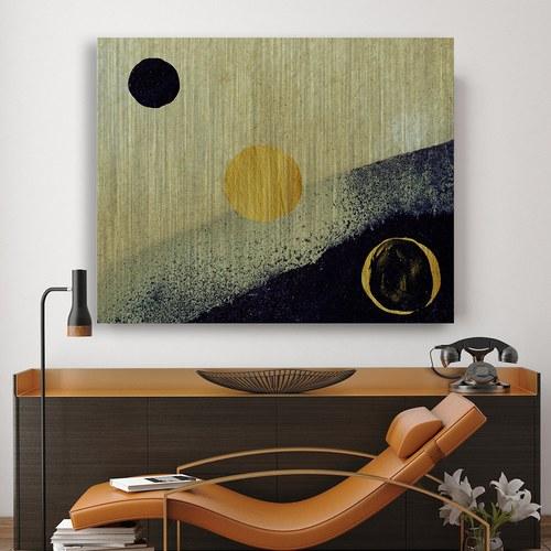 美國TwoPalms藝術掛畫 金沙海灣之二 (鋁製背板、長102公分)