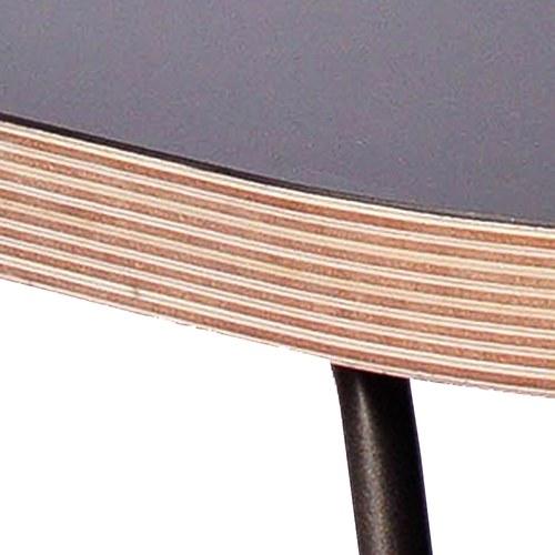 WOHAbeing CRAB螃蟹系列圓柱立燈橢圓邊桌 (黑)