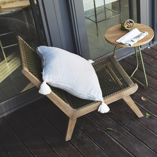 荷蘭Woven+戶外家具 美洲知更鳥繩編躺椅