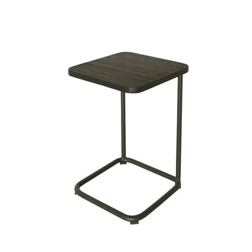 荷蘭Woven+戶外家具 狐步舞曲方形邊桌 (黑)