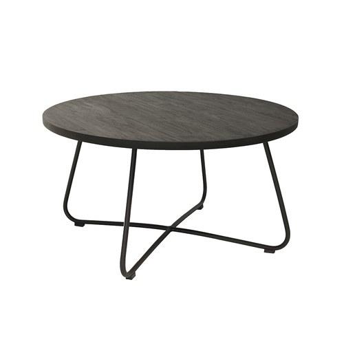 荷蘭Woven+戶外家具 探戈舞曲柚木咖啡桌 (黑)