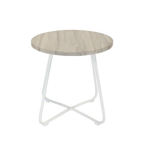荷蘭Woven+戶外家具 探戈舞曲柚木邊桌 (白)