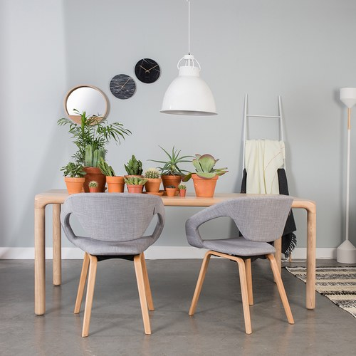 荷蘭Zuiver 倒角設計餐桌 (梣木、長220公分)