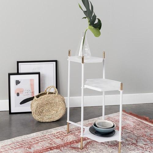 荷蘭Zuiver六角形階梯式邊桌(白)