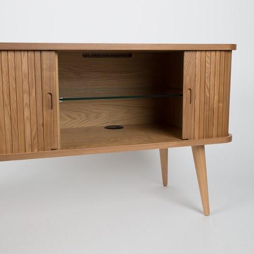 荷蘭Zuiver 木質拉門收納電視櫃