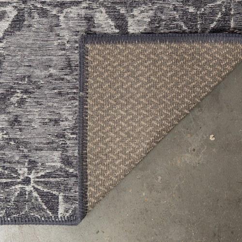 荷蘭Zuiver 復古窗花地毯 (灰藍、長240公分)