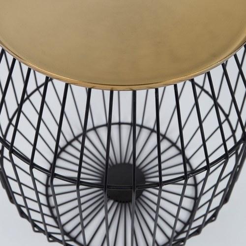 荷蘭Zuiver 黃銅質感鳥籠邊桌