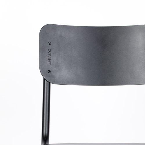 荷蘭Zuiver 返校休閒可堆疊戶外單椅(黑)
