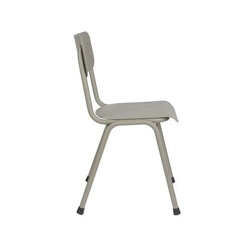 荷蘭Zuiver 返校休閒可堆疊戶外單椅(灰綠)