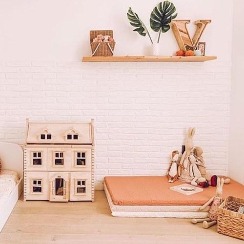 西班牙Nobodinoz有機棉 兒童遊戲爬行地墊 (甜蜜粉)